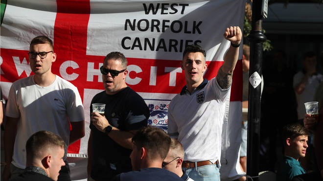 England fans arrive in Bulgaria ahead of tonight's clash