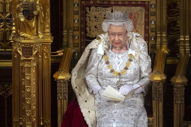 Queen Elizabeth II announced plans for heavier jail sentences in her Queen's Speech to open Parliament