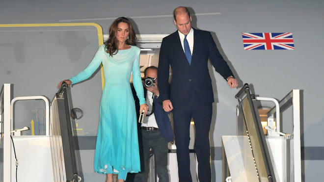 The Duke And Duchess Of Cambridge arrive in Islamabad