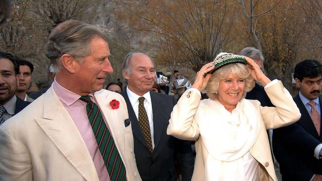 The Duke and Duchess of Cornwall in Pakistan in 2006