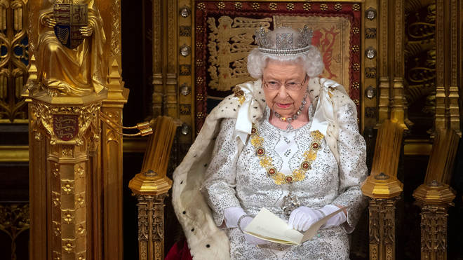 Queen Elizabeth II delivers the Queen's Speech during the State Opening of Parliament
