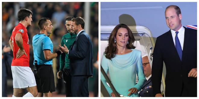 England vs Bulgaria / the Duke and Duchess of Cambridge