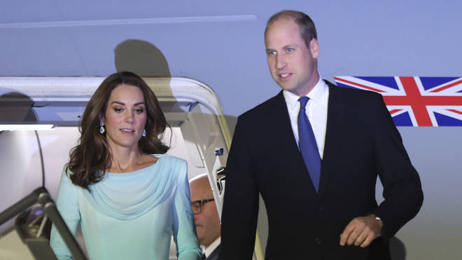 The Duke and Duchess of Cambridge arrived in Pakistan on Monday