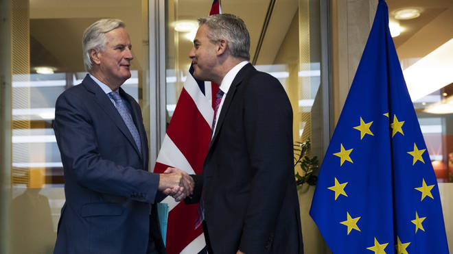 The UK Brexit negotiator Stephen Barclay met with EU officials in Brussels over the weekend.