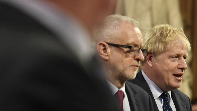 Jeremy Corbyn and Boris Johnson in parliament