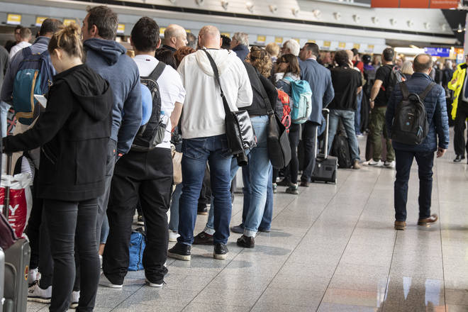 Manchester and Belfast airport have the longest security queues