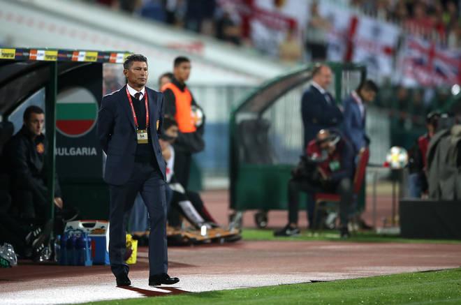 Bulgaria Manager Krasimir Balakov during the UEFA Euro 2020 Qualifying match at the Vasil Levski National Stadium, Sofia, Bulgaria