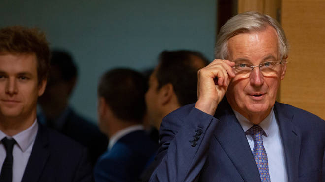 Michel Barnier arrives for a meeting of EU General Affairs ministers on Tuesday