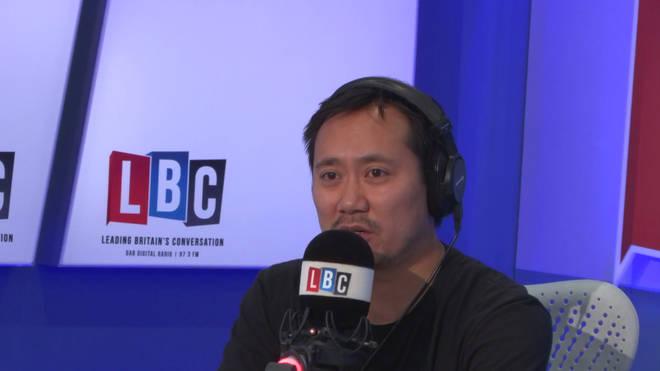 Geoff Ho in the LBC studio.