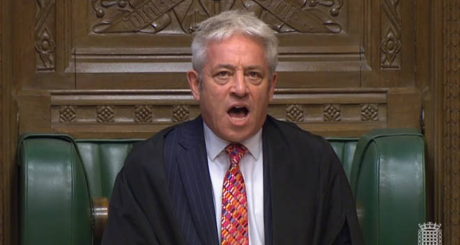 "The caller said John Bercow ""usurped the Prime Minister"""