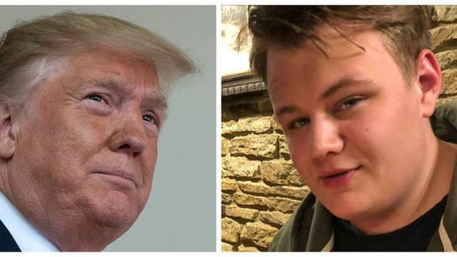 Harry Dunn and Donald Trump