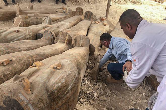 20 coffins were found in total