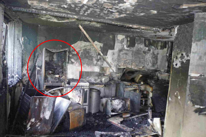 The fridge-freezer where the Grenfell Fire is believed to have started