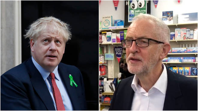 Jeremy Corbyn and Boris Johnson talk Brexit plan