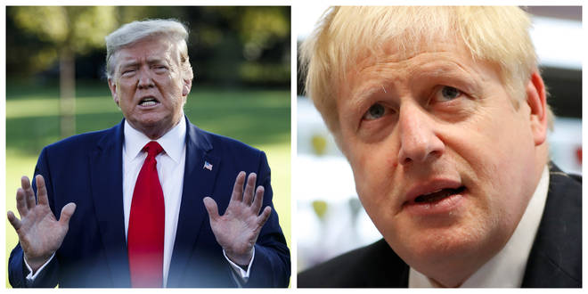 Donald Trump has claimed the meeting was Boris Johnson's idea