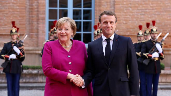 Emmanuel Macron and Angela Merkel met on Wednesday