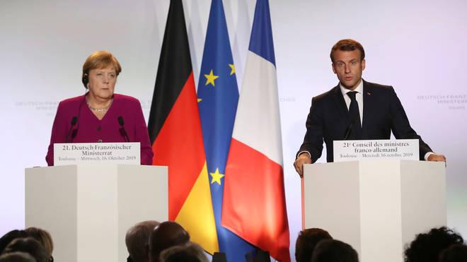 Chancellor Angela Merkel and President Emmanuel Macron on Wednesday