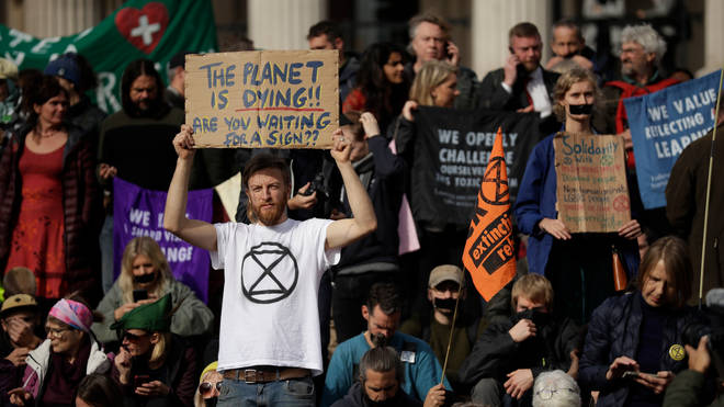 Extinction Rebellion protests continued on Wednesday