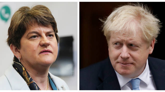 The DUP leader and Boris Johnson