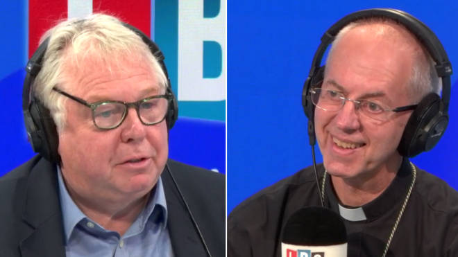 Justin Welby heard a priest was arrested in the Extinction Rebellion protests live on LBC