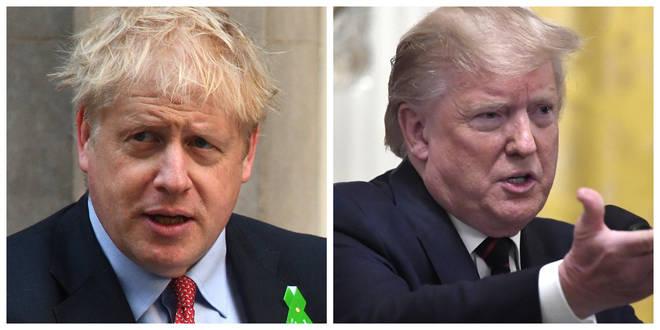 Boris Johnson has denied Donald Trump's claims