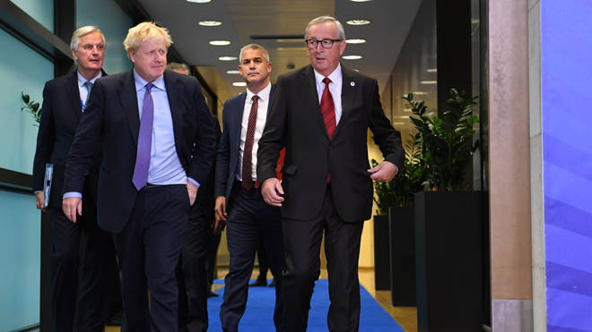 EU leaders in Brussels today after the Brexit deal was agreed