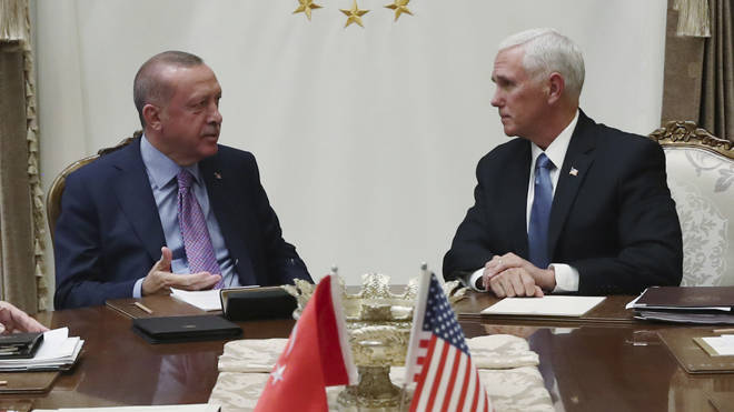 Mike Pence meeting with President Erdogan today
