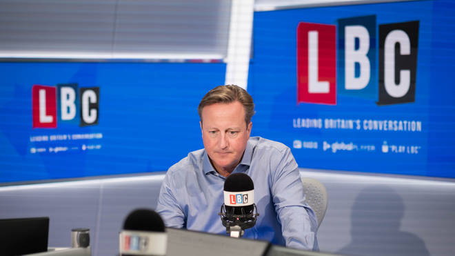 David Cameron spoke to LBC's Nick Ferrari last month