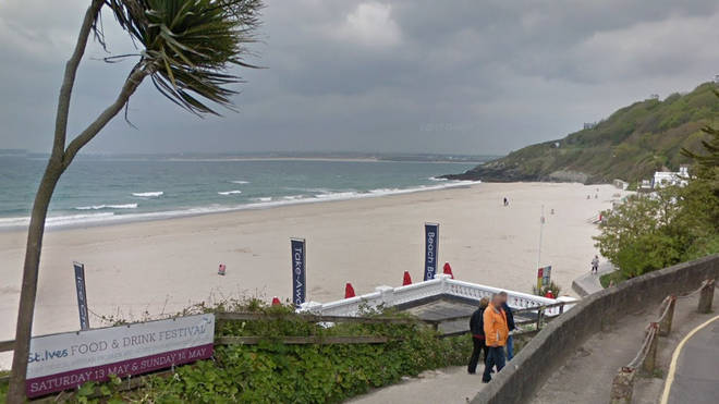 The attacks took place on Porthminster Beach near St Ives