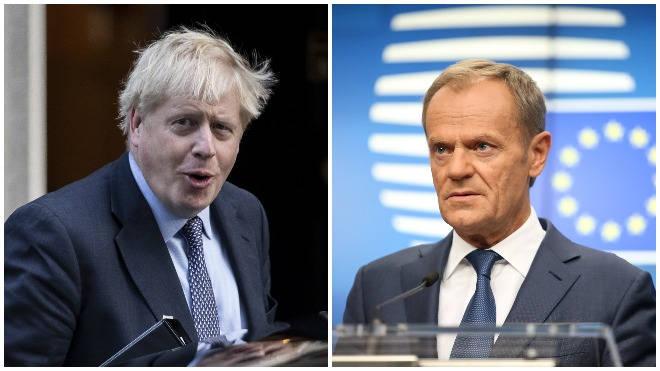 Boris Johnson sent the letters to Donald Tusk on Saturday evening