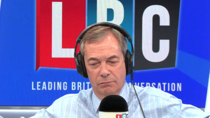 Nigel Farage Gets Into Heated Row With Remain Caller Over No-Deal Brexit