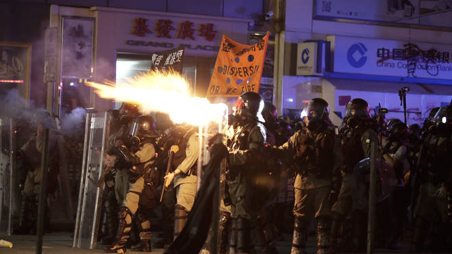 Protesters clashed with police once again on Hong Kong's streets