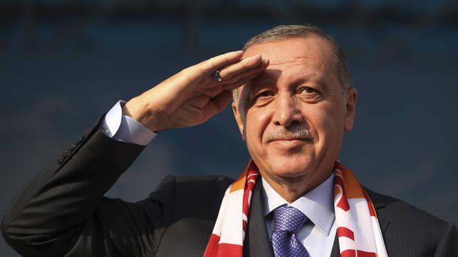 "President Erdogan wants a ""safe zone"" clear of Kurdish fighters"