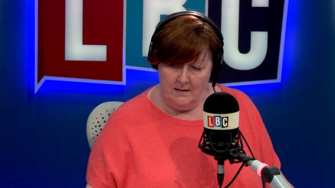 "Shelagh Fogarty challenges a caller who says ""great Britons of colour"" should help poor countries"
