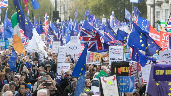 One million protesters took to the streets of London demanding a People's Vote