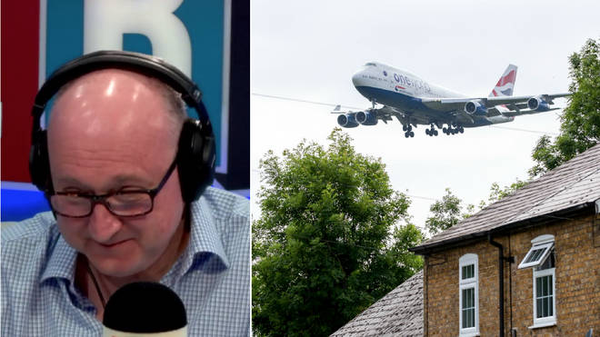 Clive Bull was shocked by how loud the planes were