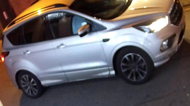 The silver Ford Kuga spotted near the scene