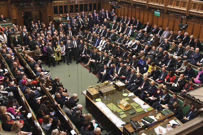 Politicians in the house of commons