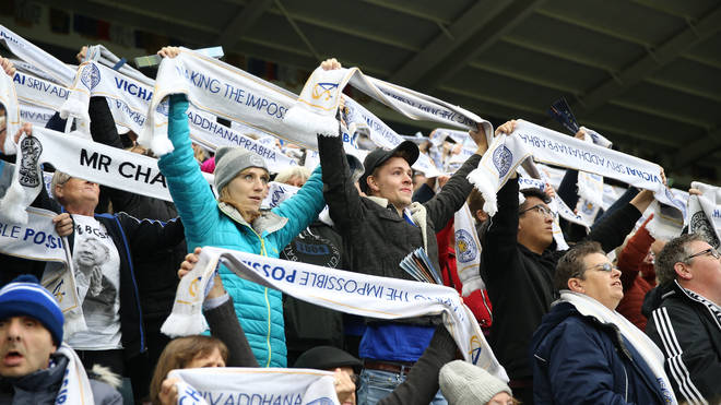 Leicester fans celebrated Vichai at last weekend's game