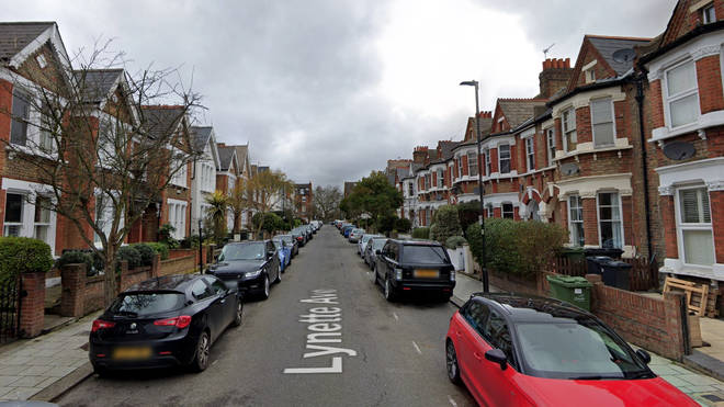 Officers were called to a disturbance in posh Lynette Avenue in Clapham