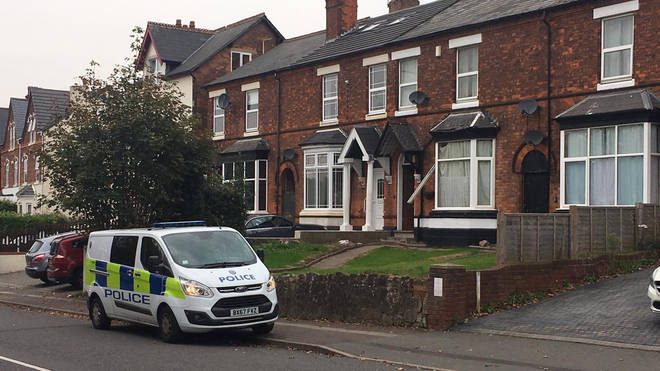 The man's body was found at a property in Erdington, Birmingham
