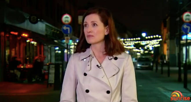 Seven News reporter Laurel Irving was recording a piece on Grenfell when she was targeted