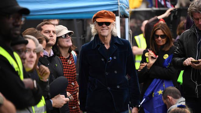 Bob Geldof attending an anti-Brexit march in London