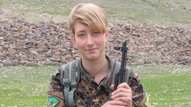 Anna Campbell died in Afrin in March 2018