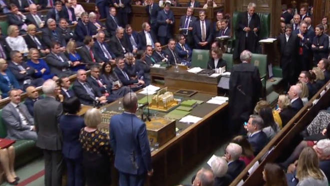 The Commons as the vote was announced by Speaker John Bercow