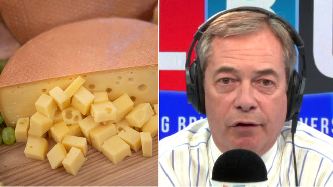 Nigel Farage likened the Brexit deal to a piece of cheese