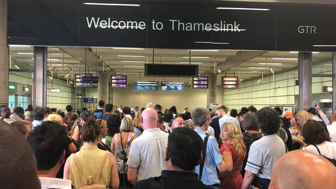 File photo: Delayed Thameslink passengers at King's Cross St Pancras