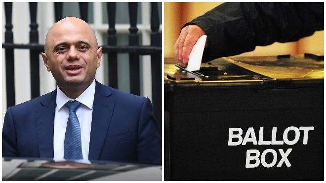 Sajid Javid told LBC the British people should be given an election