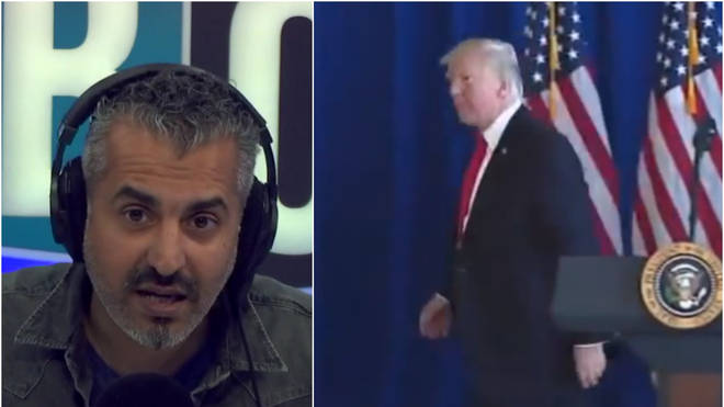 Maajid Nawaz criticised Donald Trump's silence on the far-right