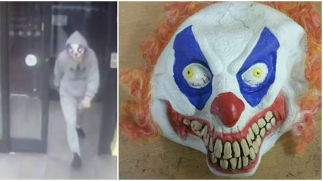 Extraordinary Video Shows Police Taser Knife-Wielding Robber In Clown Mask